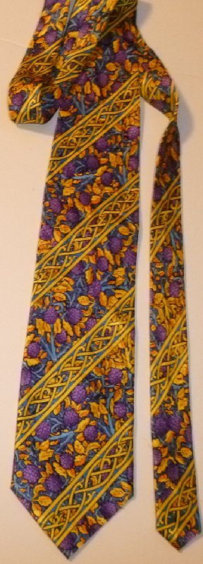 ELECTRIC NECKWEAR floral Silk  POWER TIE Necktie