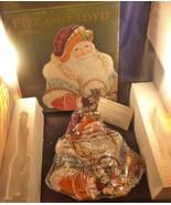 Fitz and Floyd Classics Clairmont Santa Claus Canape Plate Christmas NIB Box - $28.04