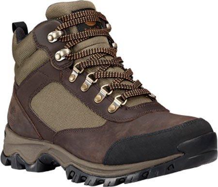 Timberland Men's Keele Ridge Waterproof Hiking Boot,Dark Brown Full Grain,US 9.5