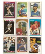 LOT OF 650 BASEBALL CARDS WITH JEFF BAGWELL ROOKIE & CRAIG BIGGIO ROOKIE - $8.15