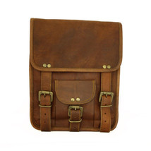 Men's Genuine Vintage Brown Leather Handmade Messenger Bag Shoulder Bag ... - $50.49