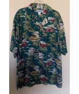 Vintage UTILITY Hawaiian button-down Woody Wagons Palm Trees shirt size ... - $7.00