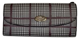 Coach Soft Wallet in Glen Plaid Coated Canvas - $74.15
