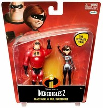 new Incredibles 2 Elastigirl & Mr Incredible Action Figure 2-Pack Disney... - $13.72