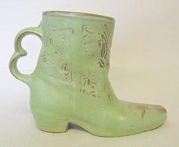 Frankoma Pottery Cowboy Boot Mug Ceramic 1981 C-33 - $40.09