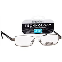 Foster Grant Technology Metal Premium Reading Glasses Jagger +3.25 Gunmetal - $19.99