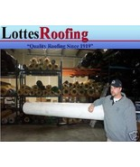 20' x 35' 60 MIL WHITE RUBBER ROOFING BY THE LOTTES COMPANIES - $1,351.35