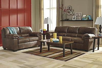 Ashley Bladen Living Room Set 2pcs Faux Leather Coffee Contemporary Style