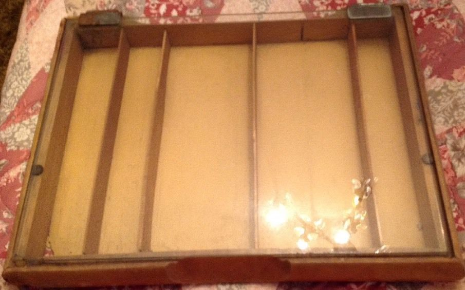 Gillette Vintage Wood And Glass Display Case