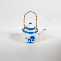 Hallmark Miniature Teapot Blue and White  - $8.50