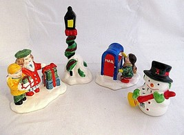 Dept 56 Village Accessories Other Mail Snowman People Light Pole Lot of 4 - $24.75