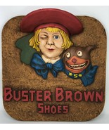 Antique Buster Brown Shoes 3D Advertising Figure Store Display Plaque - $791.99