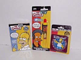 Simpsons Homer Trading Card Game Talking Fridge Magnet Apu Talking Pen New (Q) - $34.64