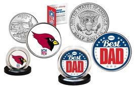 Best Dad - ARIZONA CARDINALS 2-Coin Set Quarter & JFK Half Dollar NFL LI... - $14.80