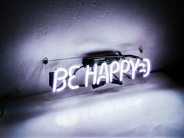 "Be Happy Neon Sign 14"" x 4"" image 3"
