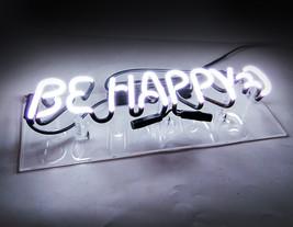 "Be Happy Neon Sign 14"" x 4"" image 4"