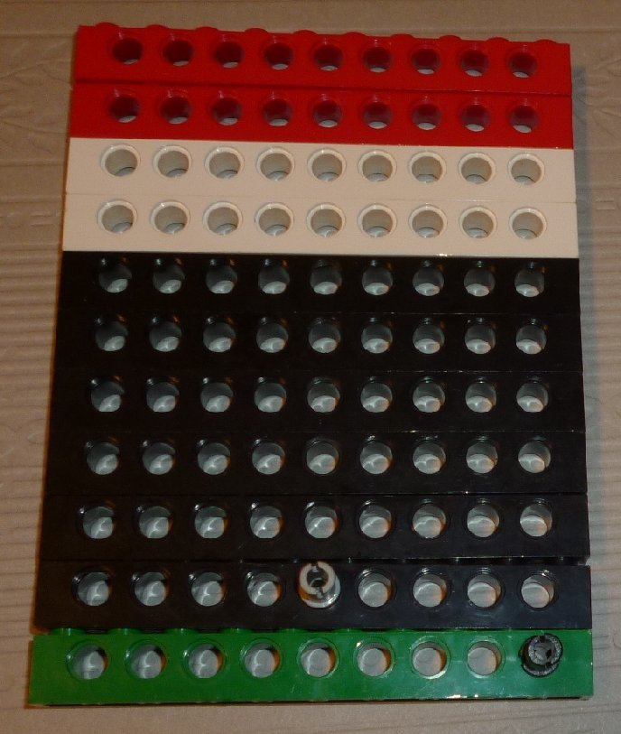 LEGO Parts lot of 11 Technic Bricks with Holes 1 x 10 mixed colors