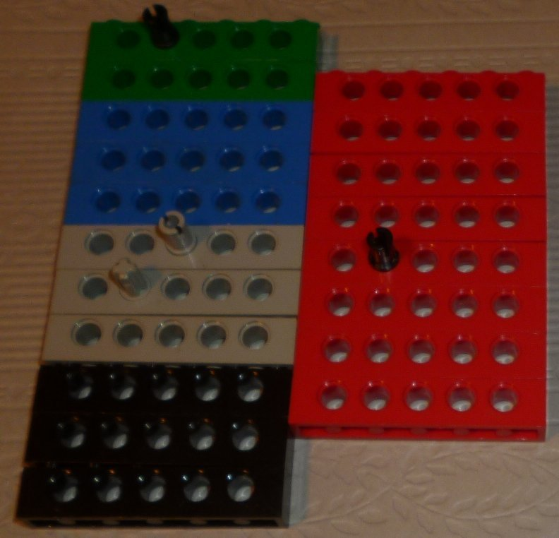 LEGO Parts lot of 19 Technic Bricks with Holes 1 x 6 mixed colors