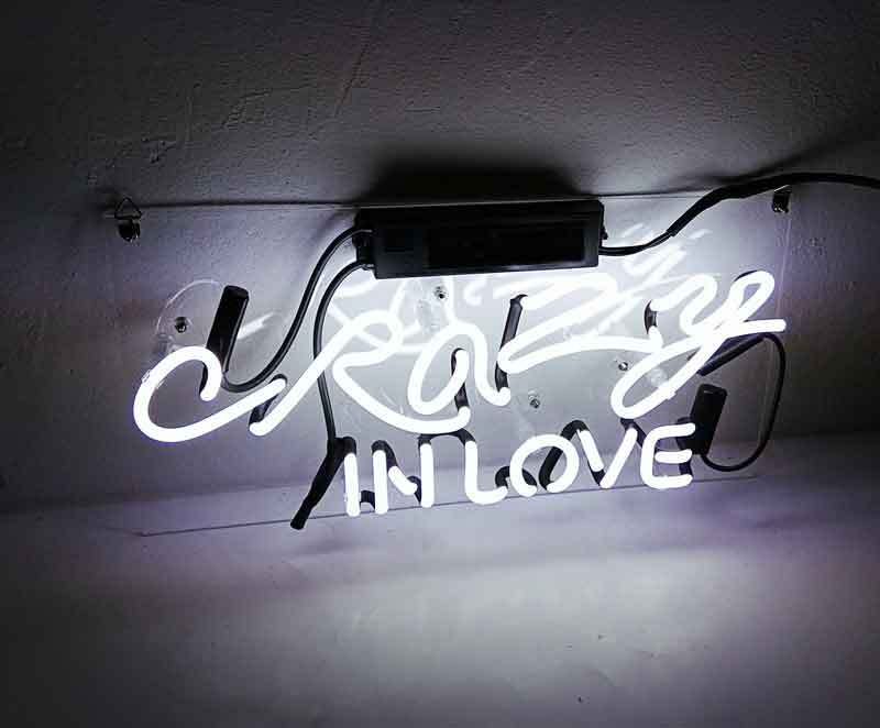 """Crazy In Love Neon Sign 16"""" x 4"""" image 3"""