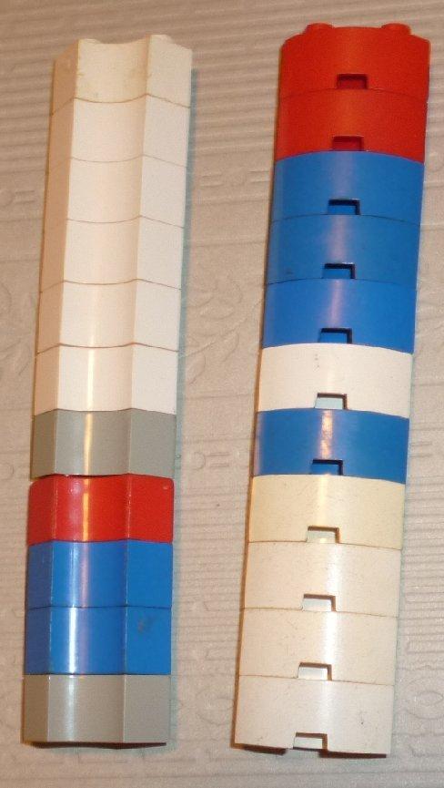 LEGO Parts lot of 22 Brick 2 x 2 Corner Round mixed colors