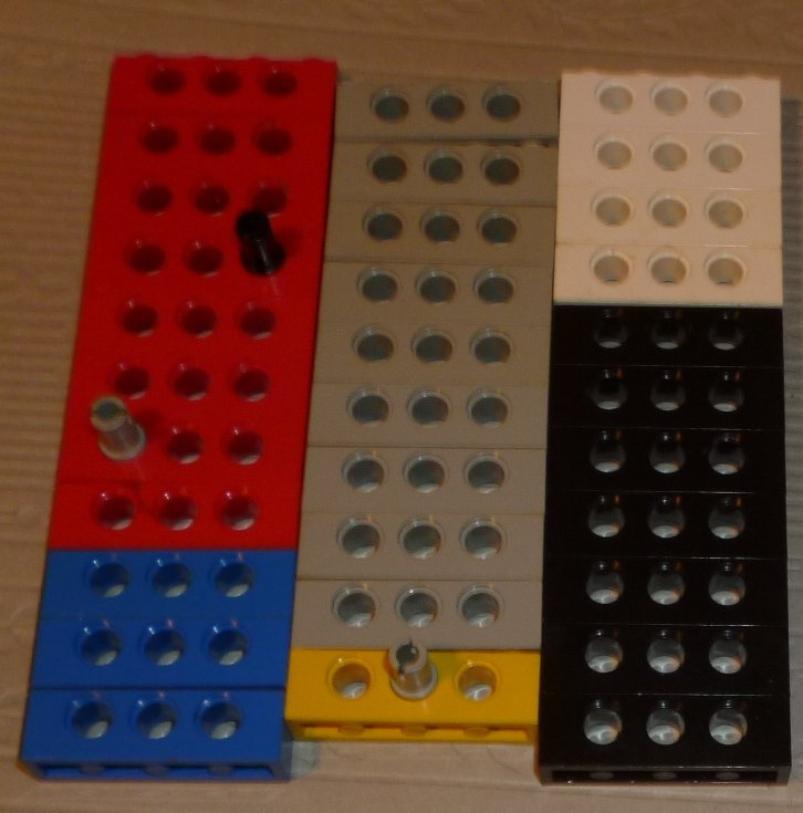 LEGO Parts lot of 32 Technic Bricks with Holes 1 x 4 mixed colors