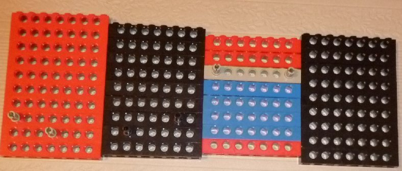 LEGO Parts lot of 36 Technic Bricks with Holes 1 x 8 mixed colors