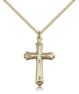 Gold Filled Cross Pendant-18 Inch Necklace For Women 6007GF/18GF - $57.25