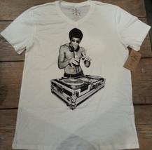 Bruce Lee DJ White V Neck T shirt  M, L,  XL Avengers Tony Stark - $24.99