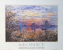 Argenteuil Basin at Sunset - Claude Monet poster - 50x40cm, vintage mone... - $23.00