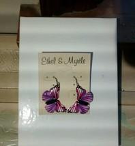 Ethel & Myrtle Purple & Pink Butterfly Drop/Dangle Earrings - $18.70
