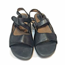 Clarks Artisan Black Leather Hook & Loop Straps Sandals Womens Size 8 M - $25.47