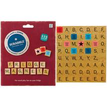 Scrabble Fridge Magnets - 112 Piece Set Of Letter Tile Magnetic Note Hol... - $11.65