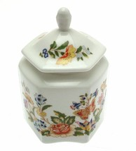 Aynsley Cottage Garden Hexagonal Pot And Lid 10 cms  - $41.39