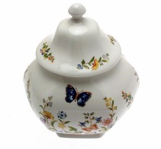 Aynsley Cottage Garden Caddy Covered Lid Hexagonal 15 cms in height - $64.72