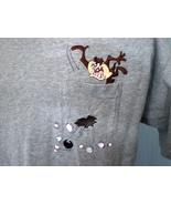 Warner Bros. Studio Store XL Gray T-Shirt Taz Bowling Embroidered - $25.00