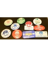 Lot 10 vtg mostly 80's 1982-1990 GOLF Button pins most INVERRARY & HONDA... - $19.99