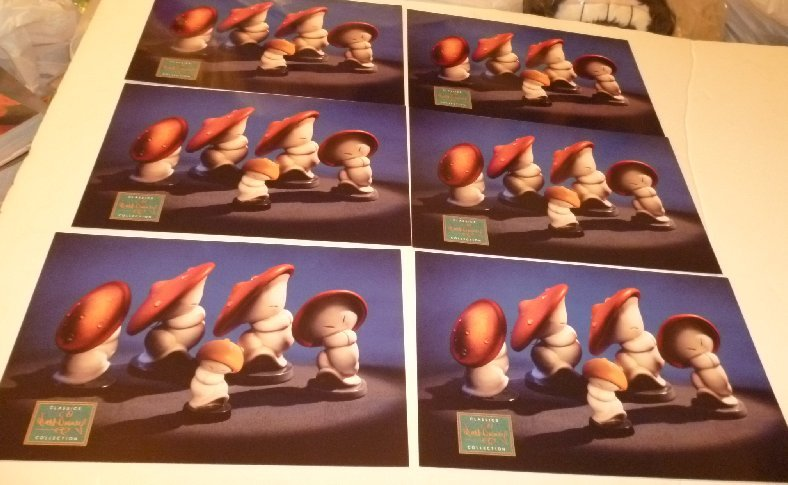 "Lot 6 CWDC Disney CHINESE MUSHROOM DANCERS Fantasia POSTCARD Post Cards ~6""x9"""