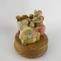 "San Francisco Music Box Company Wind Up Family Sleeping Mice ""Beautiful ... - $45.00"