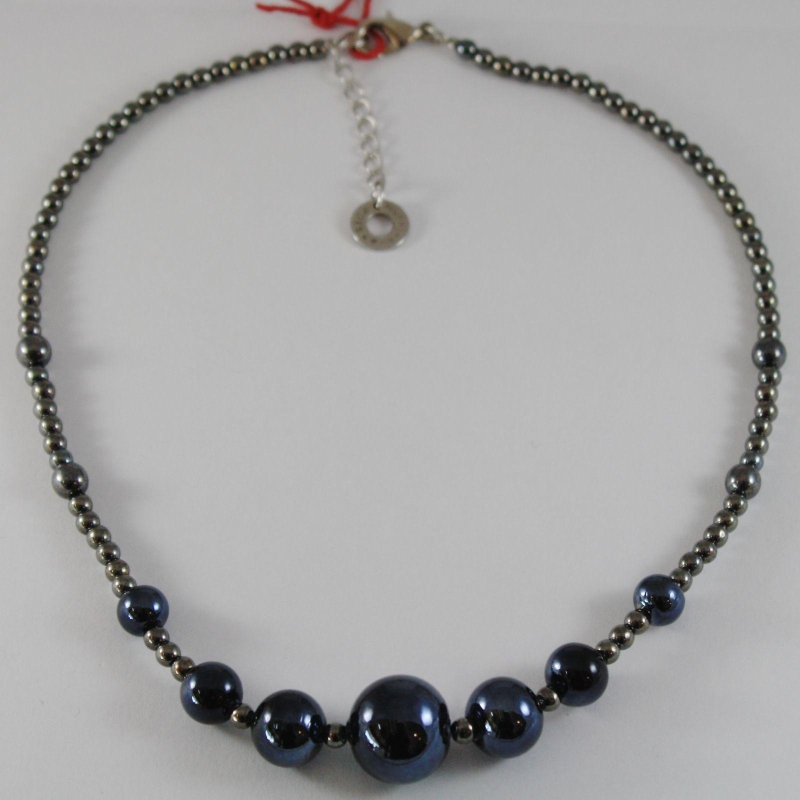 ANTICA MURRINA VENEZIA BLUE SPHERE BALLS NECKLACE, PERLEADI, 50 CM, 20 INCHES