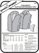 Children's Santiam Reversible Vest #112 Sewing Pattern (Pattern Only) - $5.00