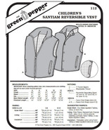 Children's Santiam Reversible Vest #112 Sewing Pattern (Pattern Only) - $5.00