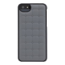 Adopted Leather Cell Phone Case For Apple iPhone 5 5S SE Gray/Black APH1... - $9.98