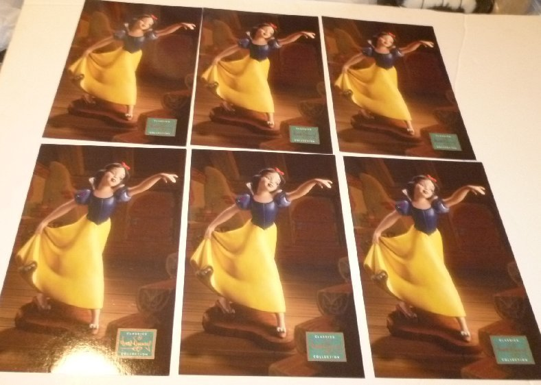 "Lot of 6 WDCC Disney SNOW WHITE Fairest one of all POSTCARD Post Cards ~6""x9"""