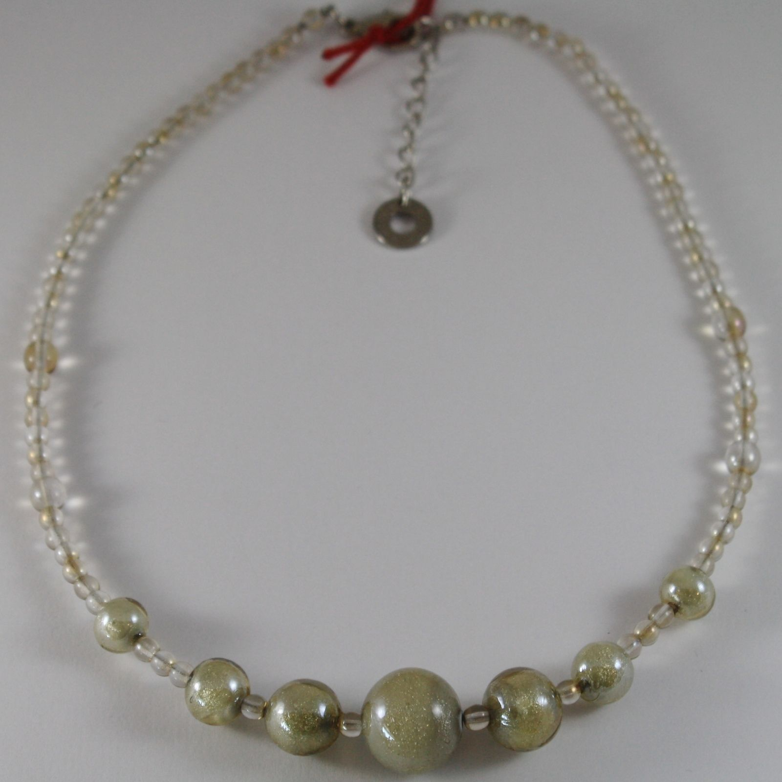 ANTICA MURRINA VENEZIA GRAY SPHERE BALLS NECKLACE, PERLEADI, 50 CM, 20 INCHES