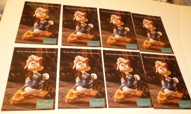"Lot of 8 CWDC Disney DONALD DUCK Admiral Duck POSTCARD Post Cards 4""x6"""