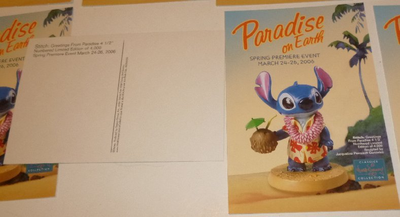 """Lot of 8 CWDC Disney Lilo's STITCH Paradise on Earth POSTCARD Post Cards 4""""x6"""""""