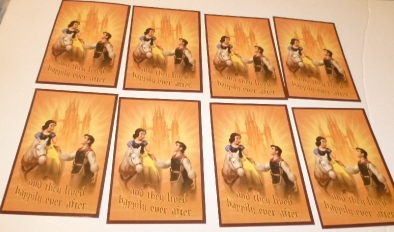 """Lot of 8 CWDC Disney SNOW WHITE & the Prince POSTCARD Post Cards 4""""x6"""""""