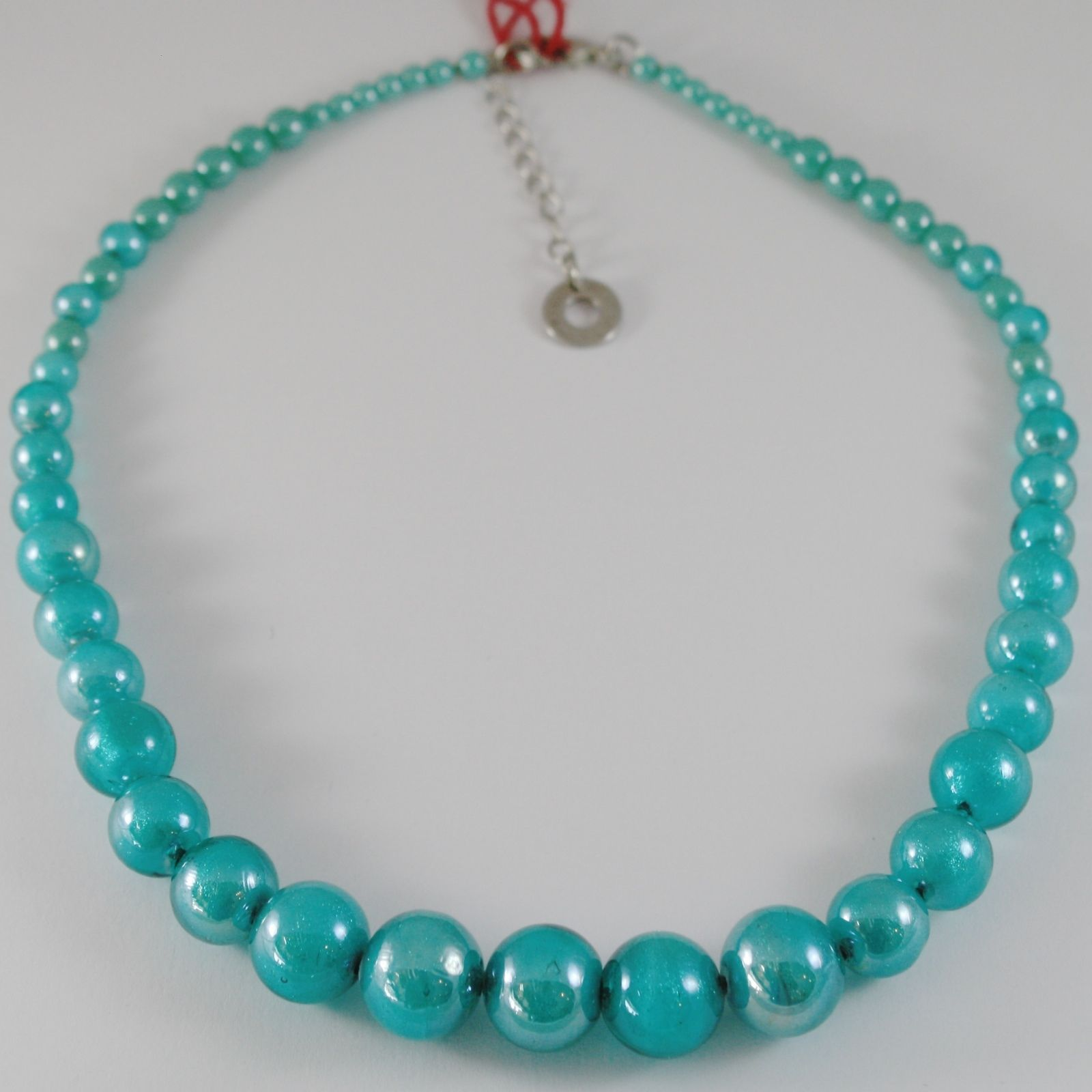 ANTICA MURRINA VENEZIA TURQUOISE 15 MM SPHERE NECKLACE, 50 CM, 20 INCHES