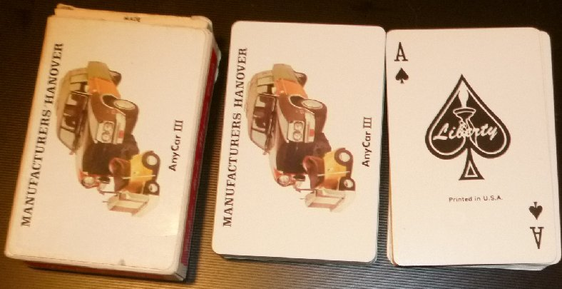 MANUFACTURES HANOVER Any Car III deck of playing cards