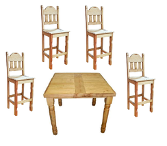 "54"" x 54"" Square Pub Height Table With Chairs, Pub Table Set - $1,564.20"